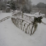 Viking Longship in the Snow 2010
